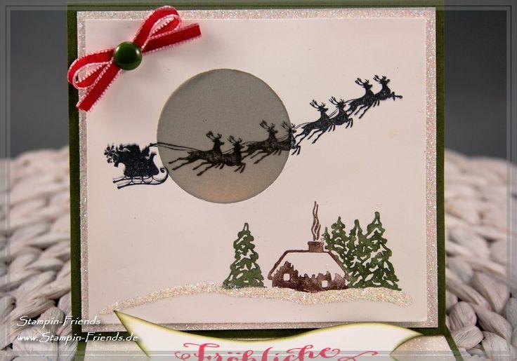 Stampin' Up Magische Weihnachten, Fröhliche Weihnachten, Stampin Up Weihnachtskarte