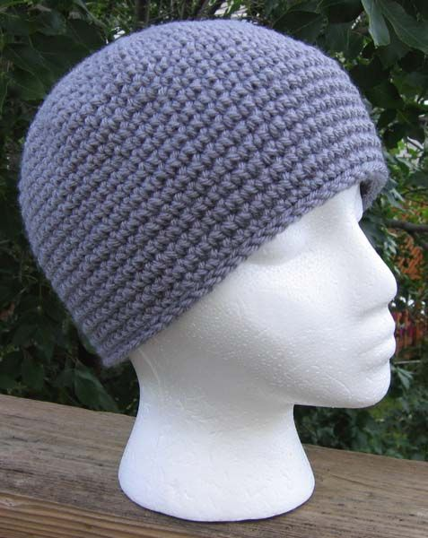 mens crochet cap - simple, single crochet cap for men. the instructions are clear and the finished product would be perfect for embellishment or continue and roll the brim. will probably make again for the men in my life. -abi