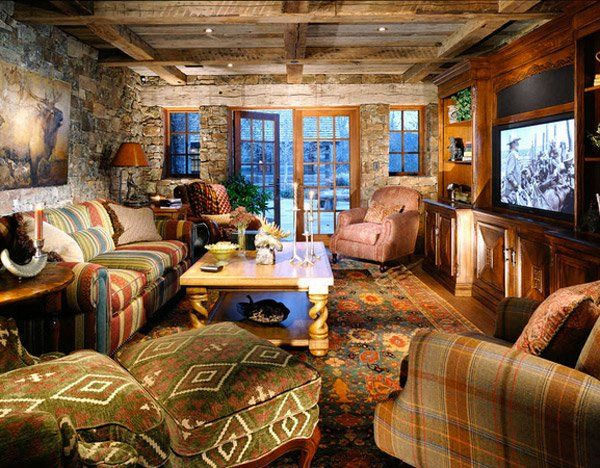 16 Awesome Western Living Room Decors Home Design Lover Western Living Room Decor Western Living Rooms Western Style Interior