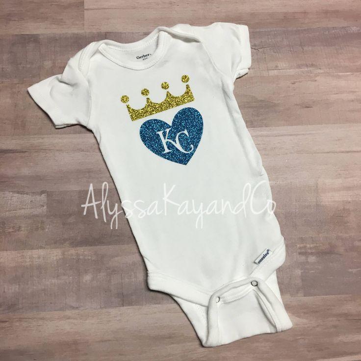KC Royals onesie - baseball onesie - royals - baby girl onesie - royals baseball - glitter onesie - baby shower by AlyssaKayandCo on Etsy https://www.etsy.com/listing/527737701/kc-royals-onesie-baseball-onesie-royals