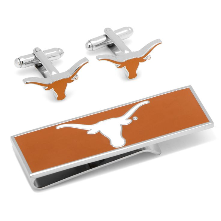 U of Texas Longhorns Cufflinks and Money Clip Gift Set