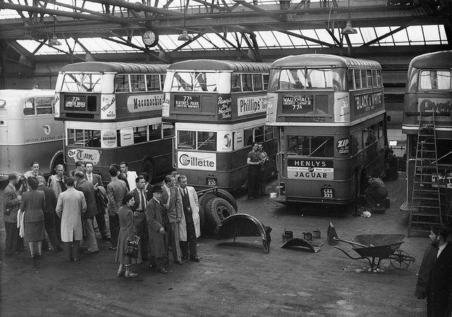 Staff from Stockholm Transport visiting London Transport 1948   Flickr - Photo Sharing!
