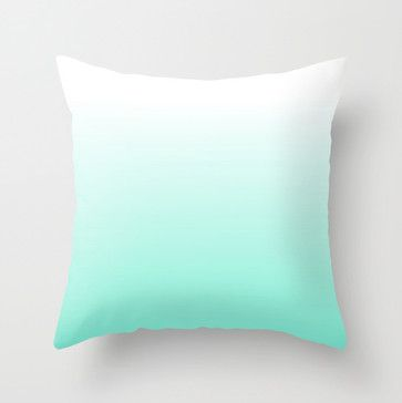 Blue Ombré Throw Pillow by Siobhaniaa contemporary pillows