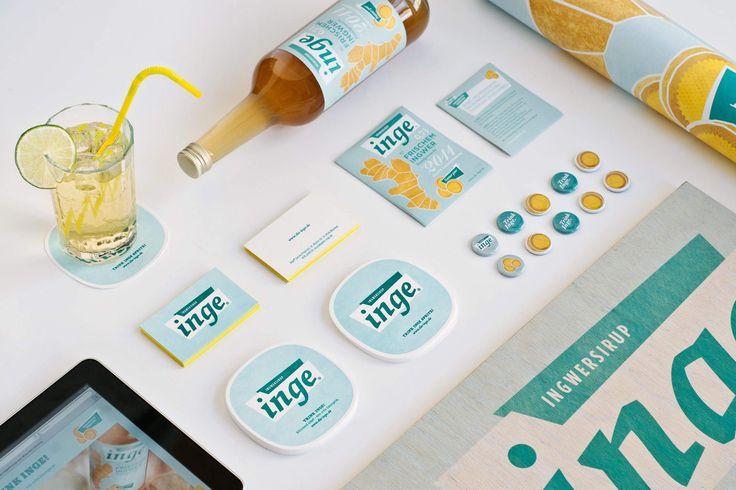 INGE INGWERSIRUP / Naming, Brand Design und Packaging / #Übersicht #Collage #Bierdeckel #Untersetzer #Visitenkarte #Letterpress #Farbschnitt #Website #Button #Holzschnitt / by Zeichen & Wunder, München