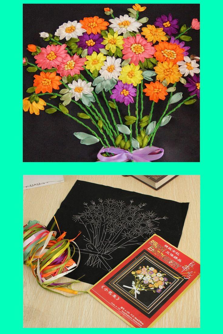 Ribbon Embroidery Flower cross stich patterns