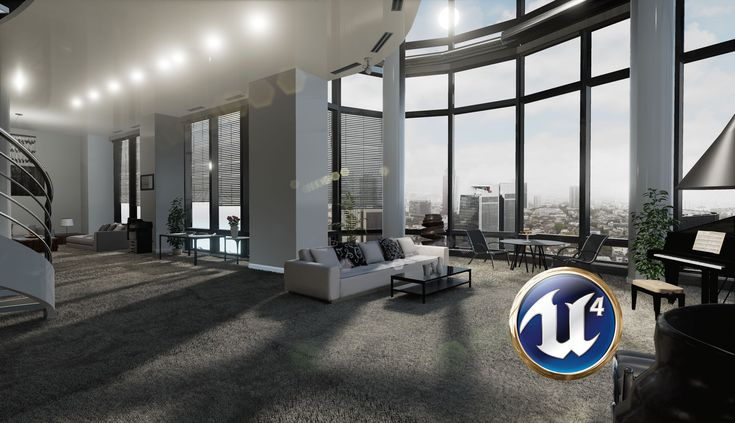 Speed 3D Interior Decorating - Apartment Scene - Unreal Engine 4
