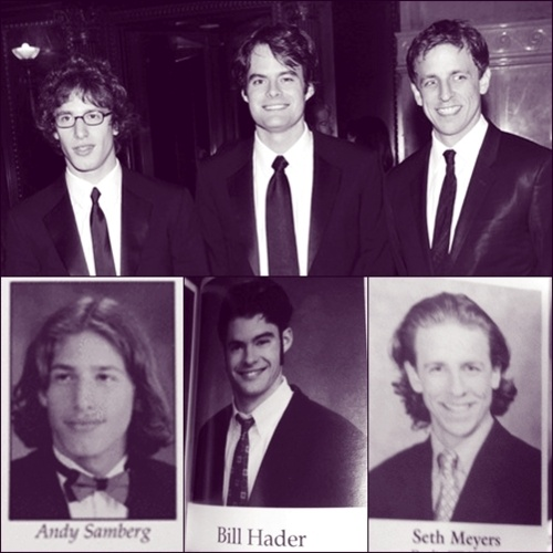 andy samberg. bill hader. seth meyers.