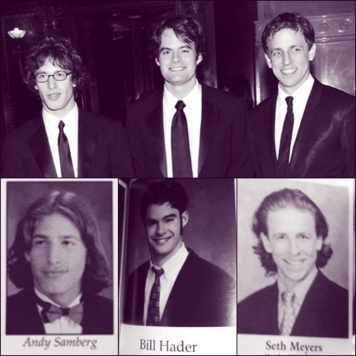 SNL's Andy Samberg, Bill Hader and Seth Meyers. Um, wow.