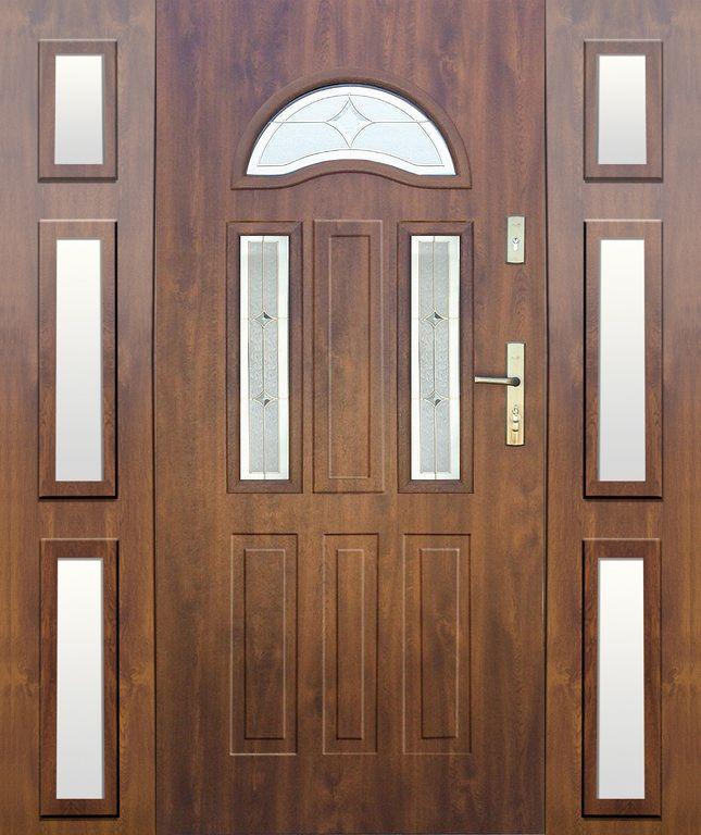 Fargo 34a T Front Door With 2 Sidepanel Double Front Entry Doors Double Entry Doors Double Glazed Front Doors