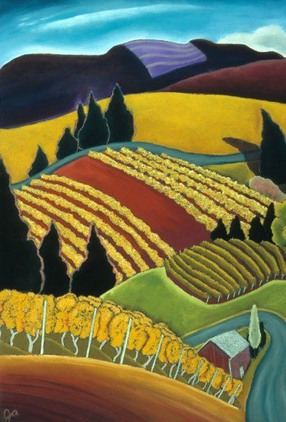 Oregon Landscapes: Portfolio of Past Images | Jane Aukshuna Reminds me of Van Gogh field w plowman