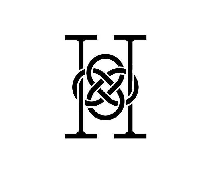 Celtic-inspired H monogram
