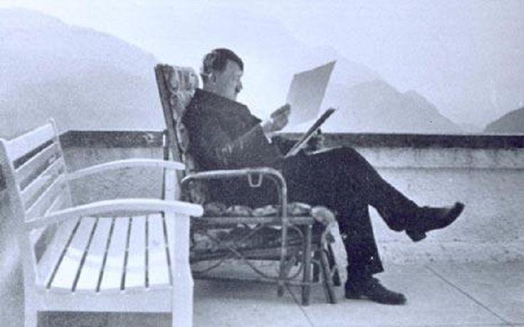 Hitler reading at Berghof
