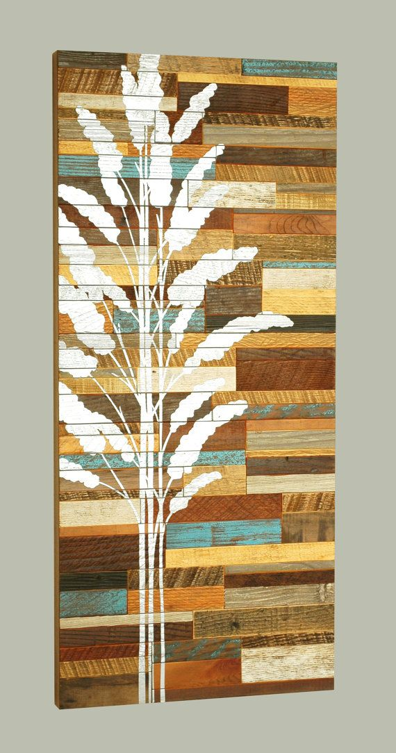 Reclaimed wood wall art via Etsy