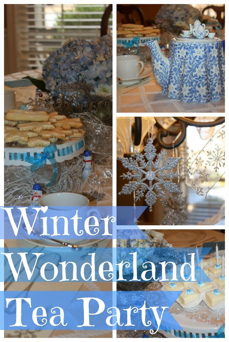 """Winter Wonderland Tea Party: great if you want a """"Frozen"""" party without the Disney stuff!"""