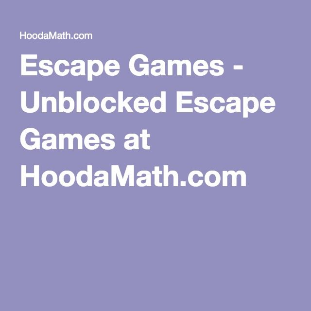 Digital Escape Games for math | HoodaMath.com