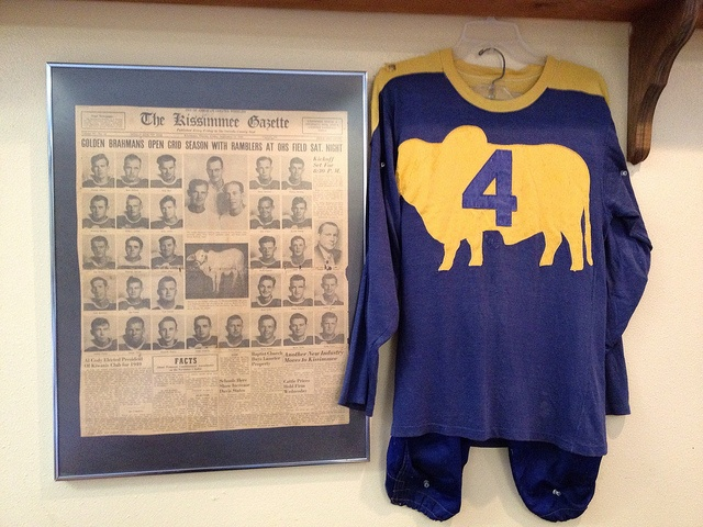 Golden Brahmans jersey from the 1940s.