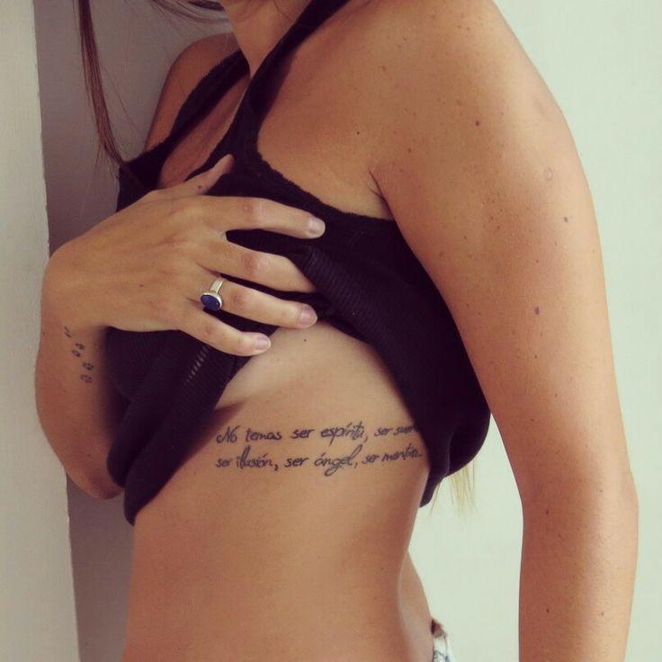 """...No temas ser espíritu, ser sueño, ser ilusión, ser ángel, ser mentira... la verdad es un molde, es un diseño, que rellena mejor quien más delira""  Sin Tregua - #Almafuerte #poem ""Don´t fear of being spirit, being dream, being illusion, being an angel, being a lie... truth is a mold that fill better who raves the most""  #quote #tattoo #tatuaje #courage"