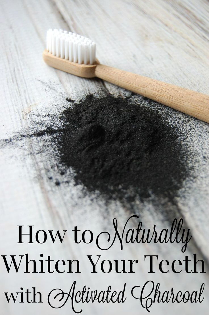How to Naturally Whiten Your Teeth with Activated Charcoal - Who knew that a powder that can turn everything black can help turn your teeth WHITE?!