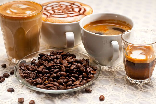 The calories in various types of coffee varies greatly even when sugar is not added and included in the calculations
