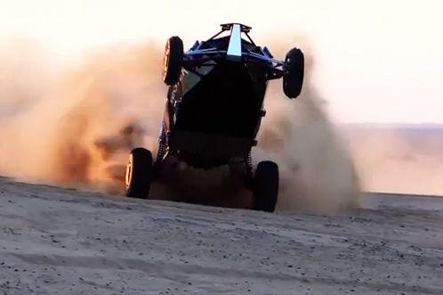 Turbo vs Supercharged Sand Rails GoPro view out from the back