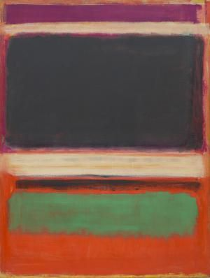 Color Field Painting 1950 to Present: Mark Rothko (American, b. Latvia, 1903-1970). No. 3/No. 13, 1949. Oil on canvas. 85 3/8 x 65 in. (216.5 x 164.8 cm). Bequest of Mrs. Mark Rothko through The Mark Rothko Foundation, Inc. The Museum of Modern Art, New York.