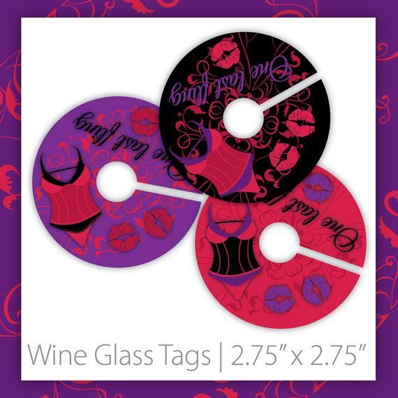 Bachelorette Wine Glass Tags . PRINTABLE . Neon Burlesque ~ $6.00 ~ Bachelorette Wine Markers, Bachelorette Wine Labels, Bachelorette Wine Tags, Bachelorette Party Wine Markers, Bachelorette Night Wine Markers, Bachelorette Party Wine Markers, Bachelorette Party Wine Tags, Purple Bachelorette Night, Poker Party, Bachelorette Party ~ https://www.etsy.com/listing/123031194  #bacheloretteparty #bachelorettepartywinemarkers #bachelorettepartywinetags #bacheloretteideas