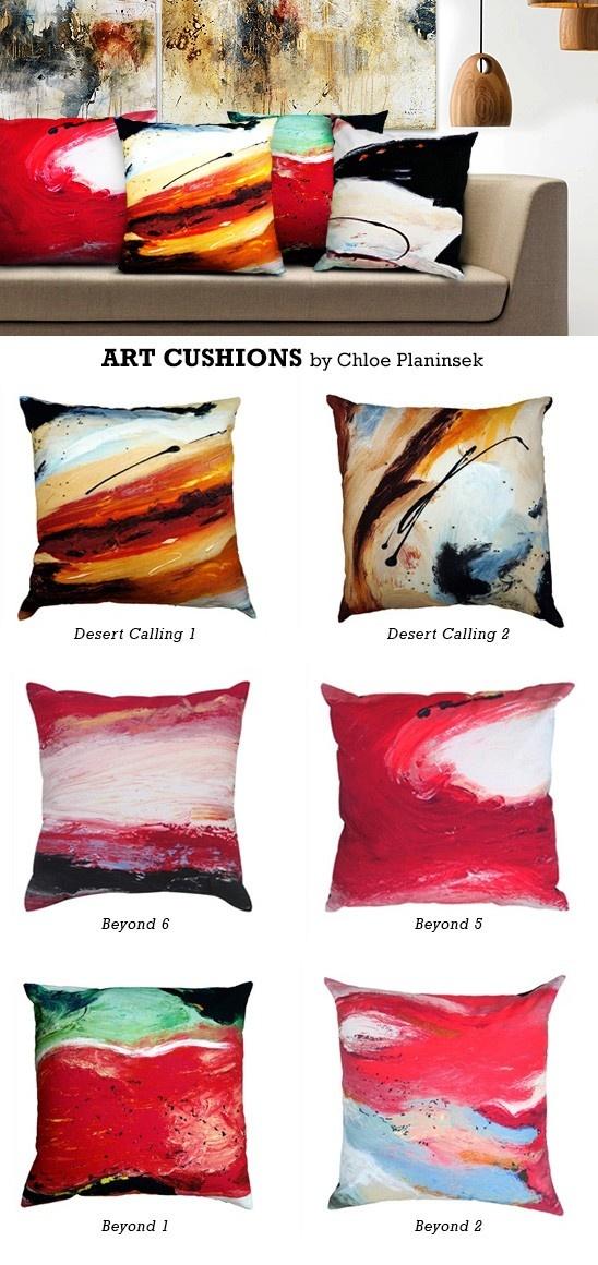 Art Cushions by Chloe Planinsek (60cm from $73.50)