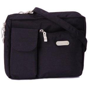 Click on the image for more details! - Baggallini Wallet Bagg, Crinkle Black, Large (Apparel)