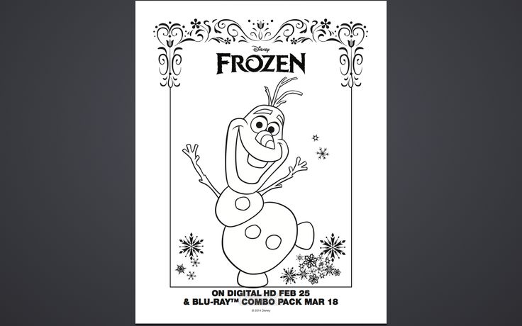 Frozen Coloring Pages For Kindergarten : Free frozen coloring pages and activity sheet printables