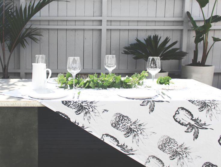 Pineapple Tea Towel - www.ledendesign.com