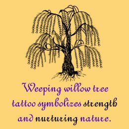 Weeping willow tree tattoo meaning
