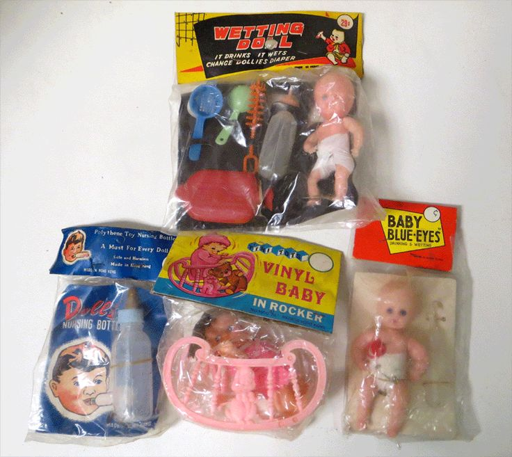 Vintage dime store toys, 1950's.