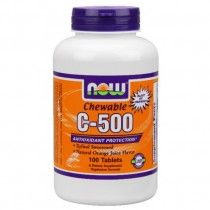NOW Vitamin C-500 Chewable (100 Lozenges)  This great tasting chewable Vitamin C supplement is naturally sweetened and naturally flavored.