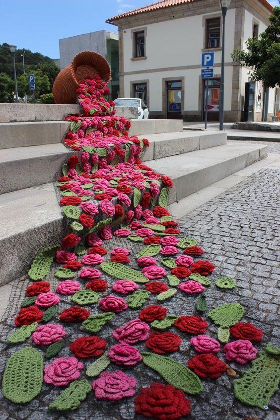 Le Crochet Dans Tous Ses états 7 Le Blog De Mes Loisirs Yarn Bombing Idées De Broderie Fleur Crochet