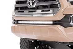Give your Tacoma the power of off-road illumination with Rough Country's 30-inch LED Hidden Bumper LED Kit. This all-inclusive lighting kit fits perfectly into the factory opening on 2016+ Toyota Tacoma bumpers, housing a 30-inch LED Light bar for impressive lighting power.