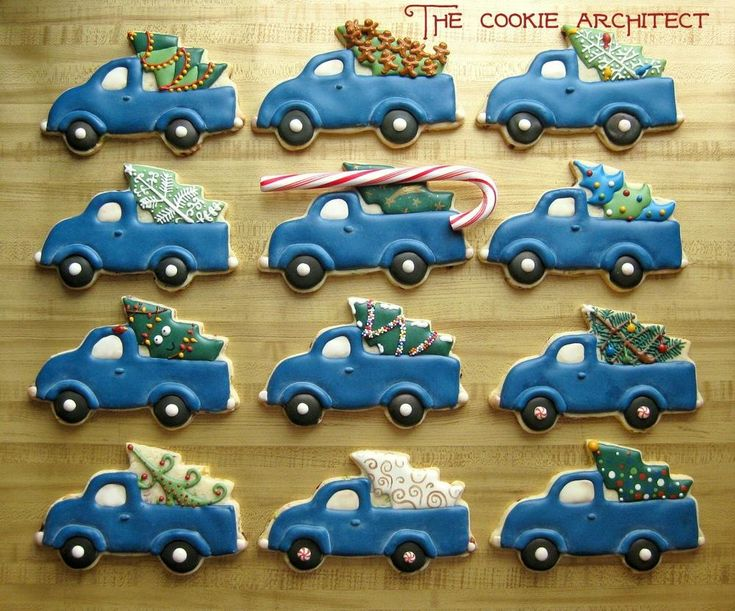 Christmas Trucks   The Cookie Architect   Cookie Connection