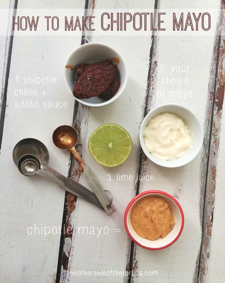 How to make your own chipotle mayo at home. Directions via theothersideofthetortilla.com