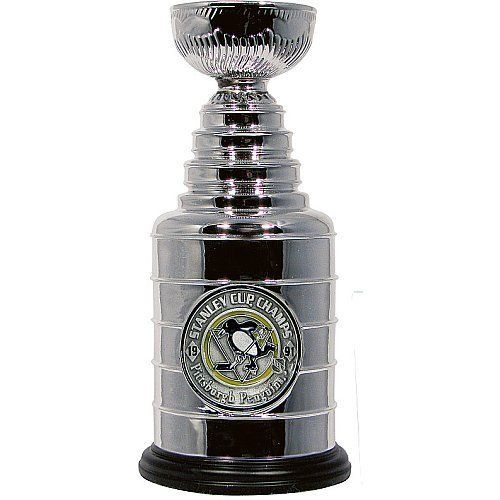 Hunter Pittsburgh Penguins 1991 Stanley Cup Champions Mini Stanley Cup Trophy by Hunter. $37.99. Celebrate the 1991 champs with this officially licensed Pittsburgh Steelers 1991 Stanley Cup(r) Champions mini Stanley Cup(r) trophy from Hunter Manufacturing. The trophy is adorned with colorful team graphics.. Save 12% Off!