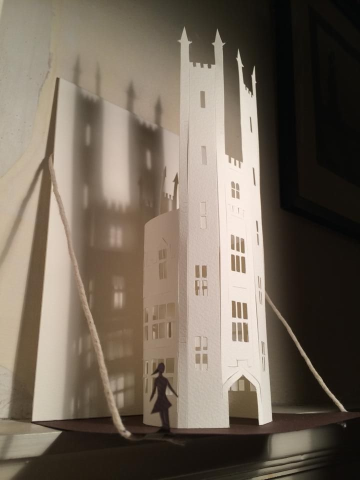 'Poor' paper-cut by Boo Paterson ©. Available from http://www.openeyegallery.co.uk  Tags: Castle, papercut, shadows, art, paper sculpture