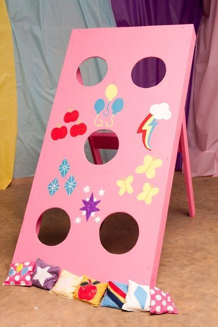 My Little Pony Birthday game, bean bag toss, cutie marks. by twila