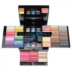 Trusa machiaj profesionala 85 culori Fraulein38 Lady Glam - Farduri + Blush + Pudra + Lipgloss + Ruj + Corector + Glitter + Creioane + Mascara + Oglinda - http://exomag.ro/Truse-de-machiaj-Blush-farduri-eyeshadow-eyeliner-lipgloss/trusa-machiaj-profesionala-85-culori-fraulein38-lady-glam-farduri-blush-pudra-lipgloss-ruj-corector-glitter-creioane-mascara-oglinda.html