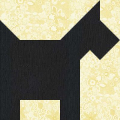 Make Cute Scottie Dog Quilt Blocks for Your Canine Loving Buddies: How to Make Scottie Dog Quilt Blocks