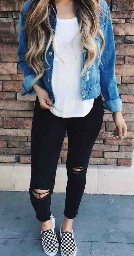 45 Most Trendy and Cutest Fall and Winter Outfits Match for School in This Year