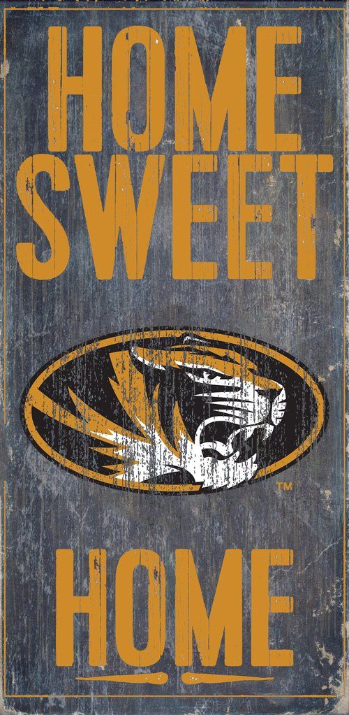 Missouri Tigers Wood Sign - Home Sweet Home 6x12