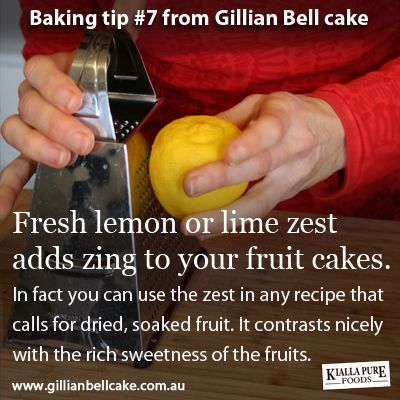 Baking tip: lemon zest adds zing to fruitcakes