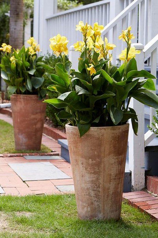65 Attractive Front Door Flowers Pot Ideas Flower Pots Outdoor
