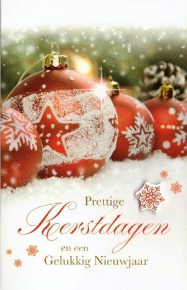 Prettige kerstdagen en een gelukkig Nieuwjaar!  Kerstkaartjes met kerstballen