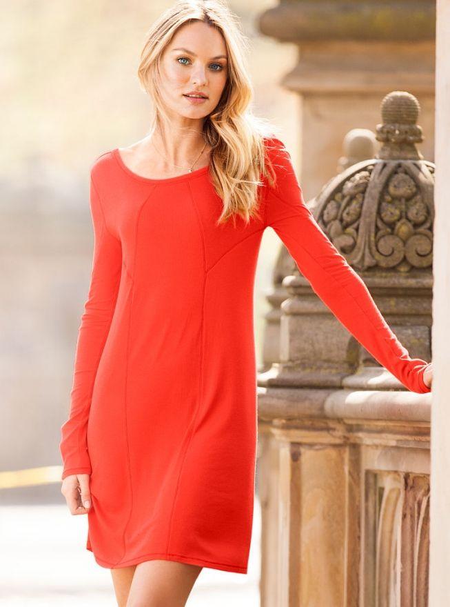 Сексуальная блондинка Кэндис Свейнпол в платьях от Victoria's Secret / Только звезды / Имхомир