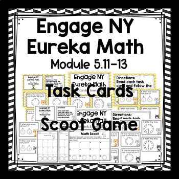 Engage NY / Eureka Math - Math Centers or Task Cards or Scoot Game 12 Task Cards -Colored Set and White Background Set (to save on ink). Module 5: Lesson 11-13 are the same objective -therefore I have combined them into one set of task cards. This product is meant to be a companion to Engage NY