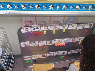 magnetic letter sort